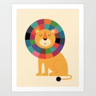 Art Print featuring Mr. Confidence by Andy Westface