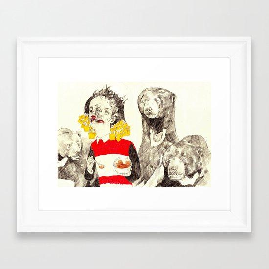 Goldilocks and the Three Bears Framed Art Print