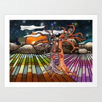 Doodlage 08 - If trees could speak Art Print