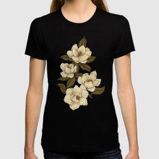 Magnolias Womens Fitted Tee Black MEDIUM