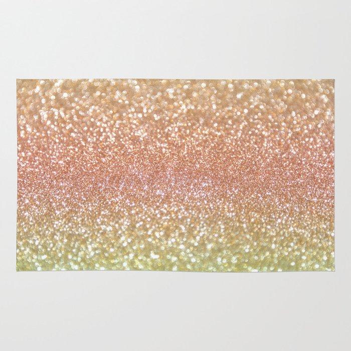 Plush Shimmer Rug: Champagne Shimmer Rug By Lisa Argyropoulos