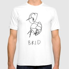 brid White Mens Fitted Tee SMALL