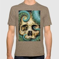 Tentacle skull Mens Fitted Tee Tri-Coffee SMALL