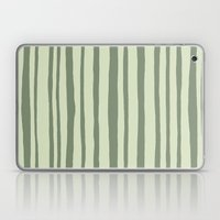Into the Woods green Stripes Laptop & iPad Skin