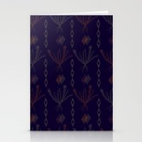 Purple Weeds Stationery Cards