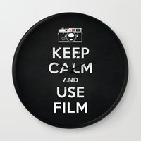 Keep Calm And Use Film Wall Clock