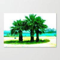 Tropical Tree Trio Canvas Print