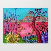 Pink desert Canvas Print