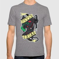Never Cross Mens Fitted Tee Tri-Grey SMALL