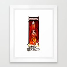 Lady Macbeth Illustration Framed Art Print