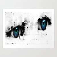 Kid´s eyes Art Print