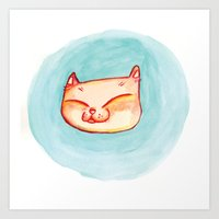 Smizing Kitten Art Print