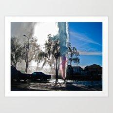 Rainbow Spray Art Print