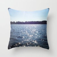 Sparkle Water Color Photography Throw Pillow