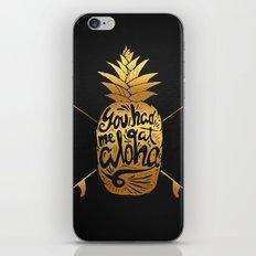 You had me at Aloha (GOLD EDITION) iPhone & iPod Skin