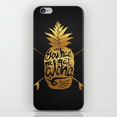 You had me at Aloha (GOLD EDITION) iPhone & iPod Skin