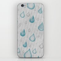 Spring Showers iPhone & iPod Skin