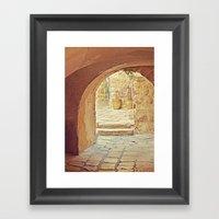 Jerusalem Courtyard Framed Art Print