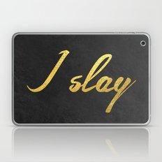 I Slay ( Gold Typography… Laptop & iPad Skin