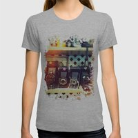 Camera Shop Womens Fitted Tee Athletic Grey SMALL