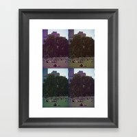 Saturday, In The Park Framed Art Print