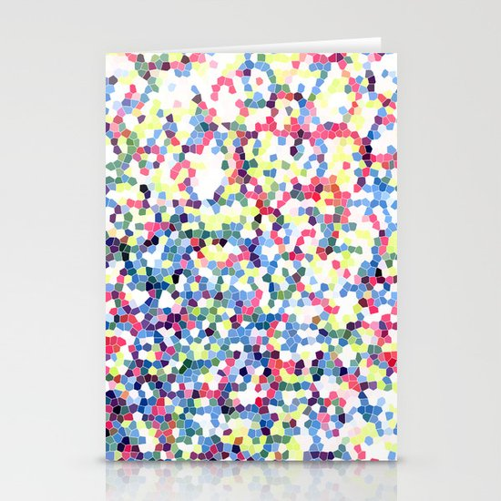 Abstract Hexies Stationery Card