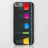 iPhone & iPod Case featuring Play with your chemistry set by Emma Harckham