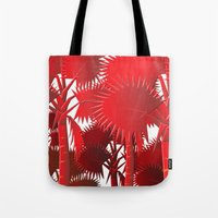 Red Palms. Tote Bag