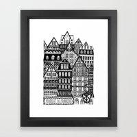 Midnight in Frankfurt Framed Art Print