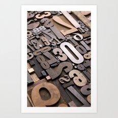 Numbers - Typography Pho… Art Print