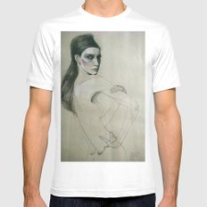 fee White SMALL Mens Fitted Tee