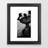 Attack of the Humongous Angry Monsters Framed Art Print