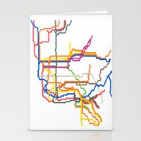 NYC Subway System (Compl… Stationery Cards