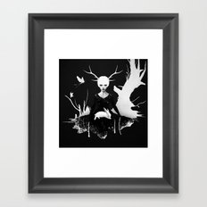 Space Within Framed Art Print