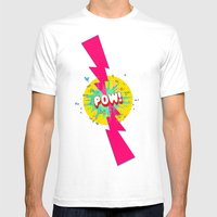 POW! Mens Fitted Tee White SMALL