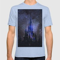 Fantasy Disney Mens Fitted Tee Athletic Blue SMALL