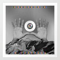 CMYK HANDS Art Print