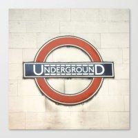 Underground - London Met… Canvas Print