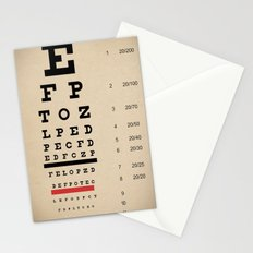 Vintage Inspired Eye Chart - Visual Acuity - Vintage Eye Chart - Distressed Canvas Textured Stationery Cards