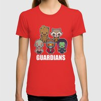 The Guardians Womens Fitted Tee Red SMALL
