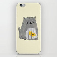 A cat that swallows a bird iPhone & iPod Skin