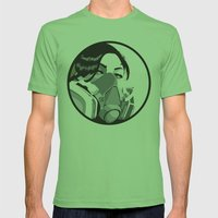 Graffiti mask Mens Fitted Tee Grass SMALL