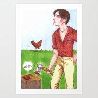 Chicken Run Art Print
