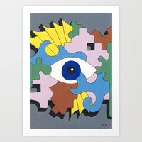 Patterned Eyes | The Left Eye 1/2 Art Print
