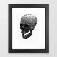 IRON SKULL Framed Art Print