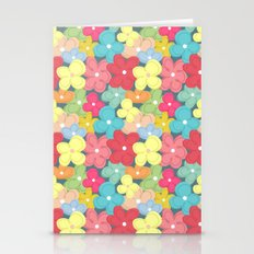 Colorful Flowers Pattern Stationery Cards