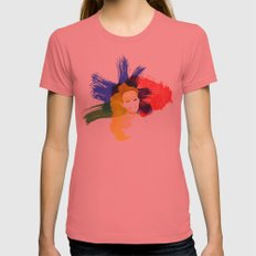 Be Daring Womens Fitted Tee Pomegranate SMALL
