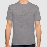 Elk Root Blue Mens Fitted Tee Tri-Grey SMALL