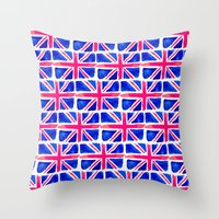 Watercolour Union Jack  Throw Pillow