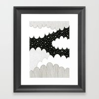 Cloudy Night Framed Art Print